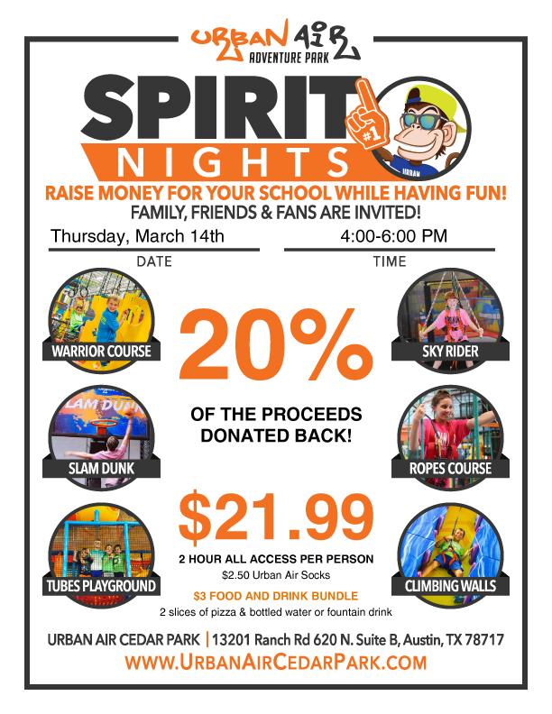 CMS Spirit Night at Urban Air @ Urban Air Cedar Park